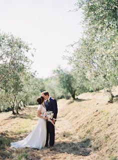 Elegant Outdoor Tuscany Wedding via oncewed.com: