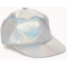 Futuristic Holographic Baseball Cap ($8) ❤ liked on Polyvore featuring accessories, hats, silver, baseball cap hats, adjustable baseball hats, snapback hats, bucket hat and strap hats