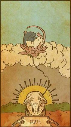 Death - Rat tarot card #tarotcardsart