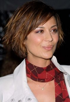 Short, Layered, Funky, Edgy Bob Haircut - Catherine Bell's Hairstyle - Hairstyles Weekly