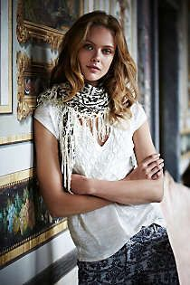 Anthropologie - Fringed Gradation Scarf  *Love the scarf and top.