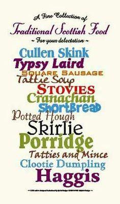 Scottish food...