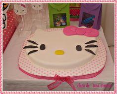 Cake at a Hello Kitty Party #hellokitty #partycake