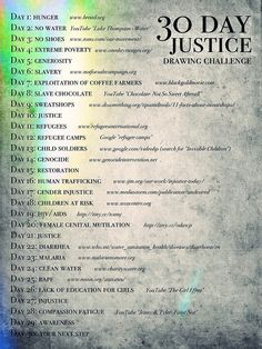 30 Day Justice Drawing Challenge
