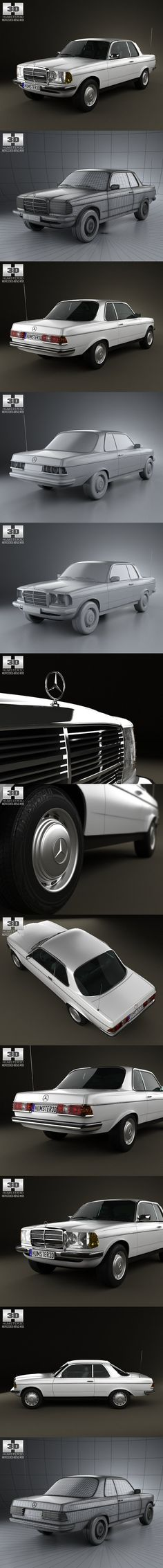 Mercedes-Benz E-Class W123 1975. 3D Vehicles