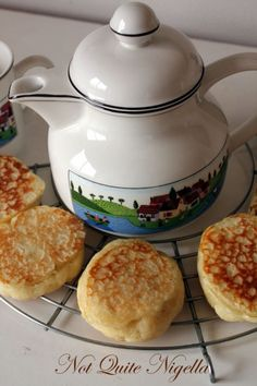 Crumpets Recipe - not exactly a pudding - but when you add honey or jam.....