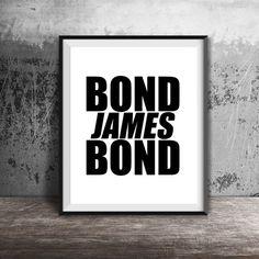 James Bond, 007, Movie Poster, Instant Download, Casino Royale, Daniel Craig, Wall Art, Digital Print, Home Decor, Ian Fleming, Movie Quote