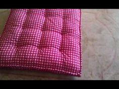 Waffle Floor Pillow Easy DIY Video Tutorial