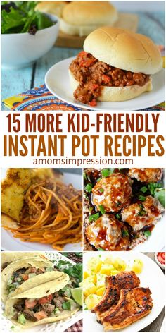 These new 15 Kid-Friendly Instant Pot recipes are quick and easy meals that your kids will love. Using your pressure cooker, you can get them to the table in minutes! via A Moms Impression quick and easy meals Best Instant Pot Recipe, Instant Pot Dinner Recipes, Instant Pot Pressure Cooker, Pressure Cooker Recipes, Pressure Cooking, Slow Cooker, Instant Cooker, Easy Healthy Recipes, Quick Easy Meals
