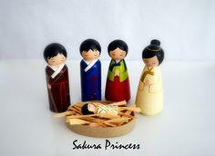 6-Piece Hand Painted Korean Nativity Set