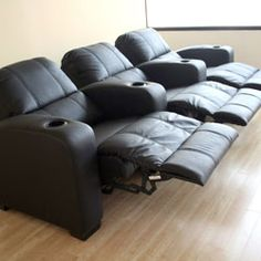 Black Leather Recliner Home Theater Seating & Found it at Wayfair - Theater Seating Leather Kidu0027s Recliner Chair ... islam-shia.org