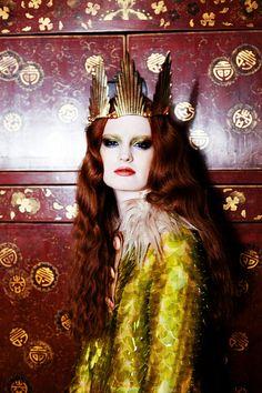 Modern Fairytale / the Red Queen / karen cox.   Love her hair - a real-life mermaid queen.
