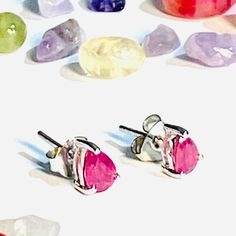Materials: ruby stone, ruby, 925 sterling silver, 925 silver, silver, natural ruby, natural ruby, natural ruby stone Free worldwide shipping Handmade product #handmade Ruby Earrings, 925 Silver Earrings, Sterling Silver, Natural Ruby, Natural Stones, Ruby Stone, Handmade, Free, Products