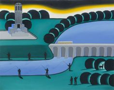 Roger Brown, (American, 1941-1997), City Lake