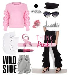 Breast cancer Awereness month by frida-marie-ording on Polyvore featuring polyvore, moda, style, WithChic, Topshop, Eugenia Kim, La Perla, Bobbi Brown Cosmetics, fashion and clothing