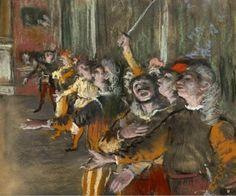 Les Choristes  -  Edgard Degas  (1876-77)  Impressionism