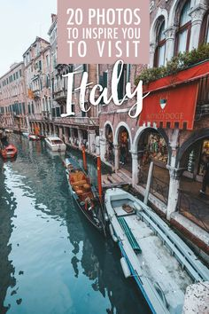 Italy is one of the greatest places in the world; each city brings its own type of beauty. Here are 20 photos to inspire you to visit Italy! Venice Travel, Rome Travel, Travel Usa, Italy Travel Tips, Travel Guide, Travel Ideas, Travel Photos, Italy Destinations, Travel Through Europe