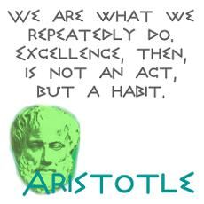 Aristotle...on the wall of my classroom...