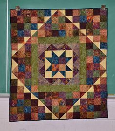 Batik Baby Quilt I made.