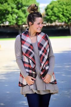 Spice Things Up Plaid Vest