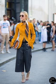 #New on #STYLEDUMONDE http://www.styledumonde.com/ with @lookdepernille #PernilleTeisbaek at #paris #fashionweek #pfw #ss15 #acne #chloe #gucci #outfit #ootd #streetstyle #streetfashion #streetchic #snobshots #streetlook #fashion #mode #style
