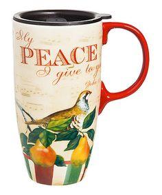 Christmas Carols Ceramic Latte Travel Cup #zulily #zulilyfinds