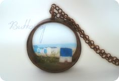 Buttonsy Copper World Beach Cottage Necklace (Folksy) £30.00