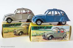 Dinky Toys 500 - Citroën 2CV 1966 - les deux couleurs