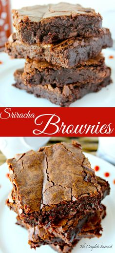 Sriracha Brownies ~ A bit of your favorite hot sauce spices up classic brownies.  ~ The Complete Savorist