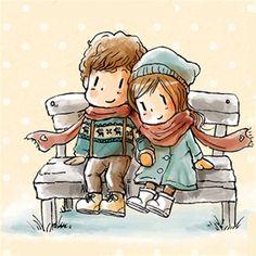 Cute Couple Cartoon, Cartoon Boy, Cartoon Girl Drawing, Cartoon Pics, Anime Couples Drawings, Couple Drawings, Love Drawings, Poster Print, Fantasy Drawings