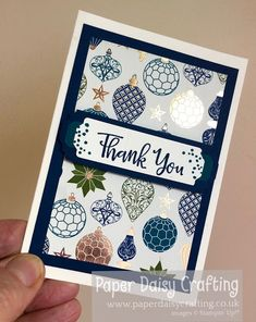 Christmas Thank You, Stampin Up Christmas, Christmas Cards, Thank You Note Cards, Thank You Gifts, Paper Daisy, Paper Crafts, Card Crafts, Some Cards