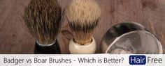 Old school Badger vs Boar Shaving Brush