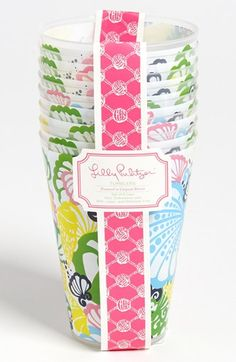 preppy fun acrylic tumblers from lilly pulitzer // perfect for outdoor entertaining