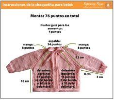 Instrucciones chaleco para bebé