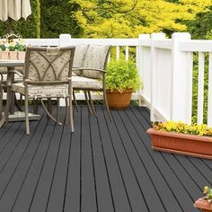Wood Stain Colors - Find The Right Deck Stain Color For Your Project Staining Wood, Painted Wood Deck, Staining Deck, Wood Stain Colors, Deck Colors, Deck Design, Painted Patio, Colorful Patio, Exterior Wood Stain Colors