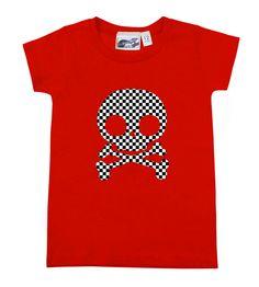 Checker Skull Red T-shirt