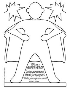 Create Your Own Superhero Template Pinteres