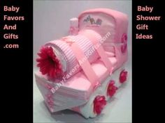 Train baby shower gift diaper cake