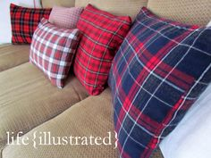 Pottery Barn, Land of Nod, L.L. Bean, and Eddie Bauer Plaid Pillow Cover Knock-Offs