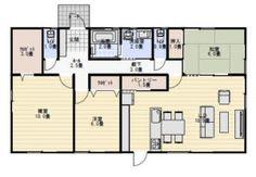 30坪3LDK寝室10畳の平屋の間取り   平屋間取り