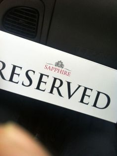 Reserve with Sapphire London