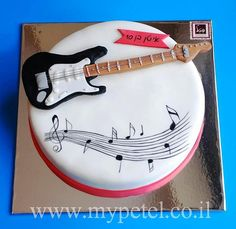 guitar cake, rock star party