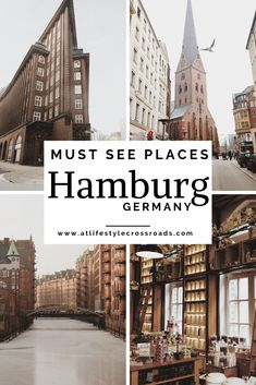 5 Top Places in Hamburg, Germany - At Lifestyle Crossroads Hamburg is considered to be one of the coolest and most innovative European cities for a reason. Let´s check Top places in Hamburg you can´t miss! Europe Destinations, Europe Travel Tips, European Travel, Travel Guide, Europe Packing, Backpacking Europe, Packing Lists, Travel Deals, Travel Hacks
