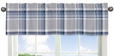 Plaid Window Valance will help complete the look of your Sweet Jojo Designs room. This valance softens the look of the window and obscures pulled up blinds. It will coordinate nicely with your Sweet J Teen Boy Bedding, Crib Bedding Sets, Comforter Sets, Valance Curtains, Valances, Kids Window Treatments, Window Coverings, Plaid Comforter