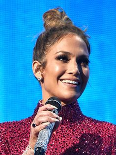 51 New Hair Ideas: Jennifer Lopez's fluffy topknot | allure.com