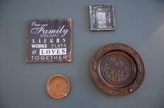 mooie combinatie van hout, koper en canvas