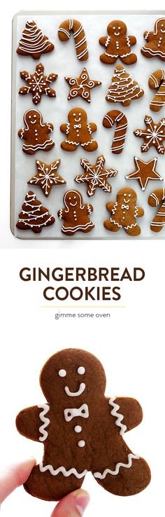 Gimme Some Oven - Rena tanzt. - Gimme Some Oven My favorite Gingerbread Cookies recipe! It's easy to make as soft or as crispy as you'd like, the cookies are easy to cut out and decorate, and they are perfect for the holidays! Holiday Cookies, Holiday Desserts, Holiday Baking, Holiday Treats, Holiday Recipes, Frosted Christmas Cookies, Easy Christmas Recipes, Irish Desserts, Autumn Desserts