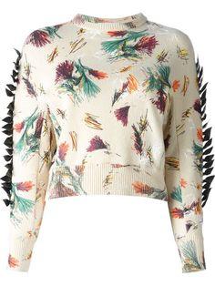 Toga Intarsia Cropped Sweater - Restir - Farfetch.com
