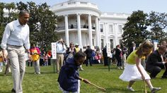 President Obama gathers with schoolchildren on the White House lawn for the annual Easter Egg Roll. Held on Easter Monday, the yearly tradition is commonly believed to have started in 1814, organized by First Lady Dolley Madison.