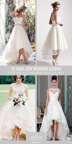 Top 18 High Low Wedding Dresses For brides who can't decide between long and short dress we offer the collection of high low wedding dresses. Here you find sweetheart lace long&cap sleeves wedding dresses. Hi Low Wedding Dress, Top Wedding Dresses, Sweetheart Wedding Dress, Tea Length Wedding Dress, Perfect Wedding Dress, Wedding Dress For Short Women, Trendy Wedding, Reception Dresses, Summer Wedding